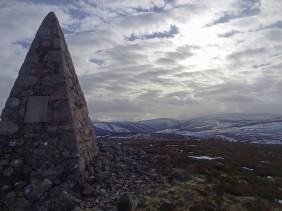Monument cairn on Carnferg