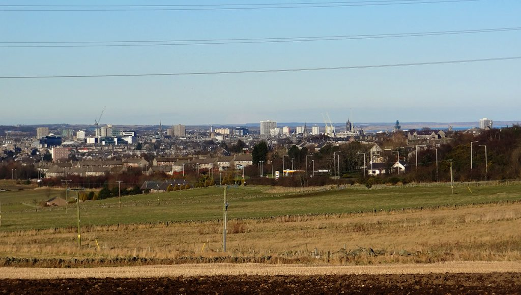 Looking back to the view over Aberdeen