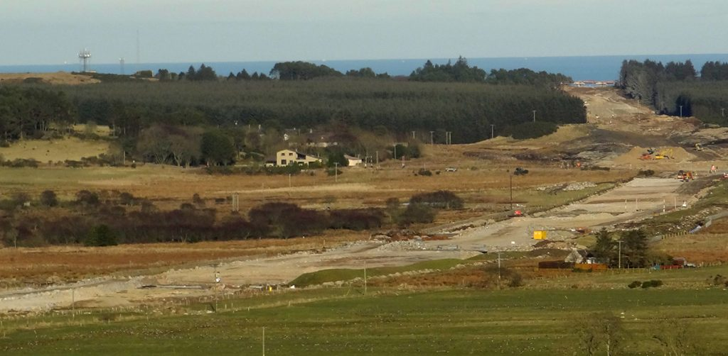 View of ring road construction  from Clochandighter