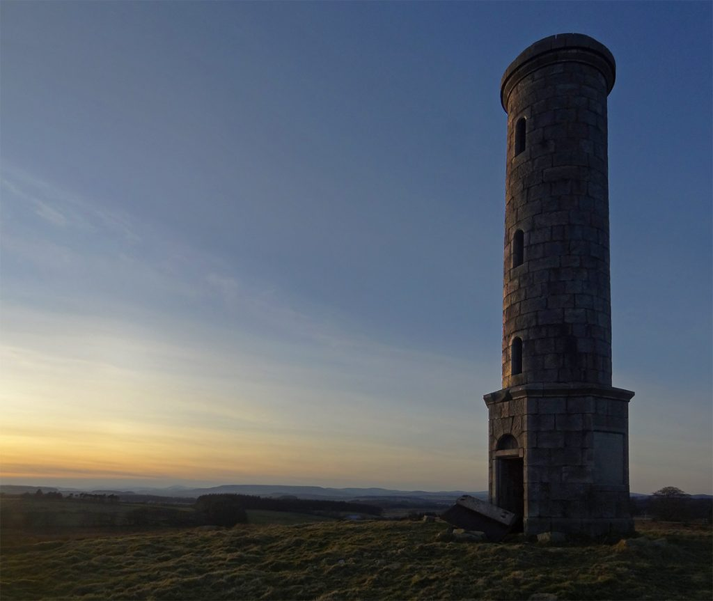 Sunset Boswell Monument
