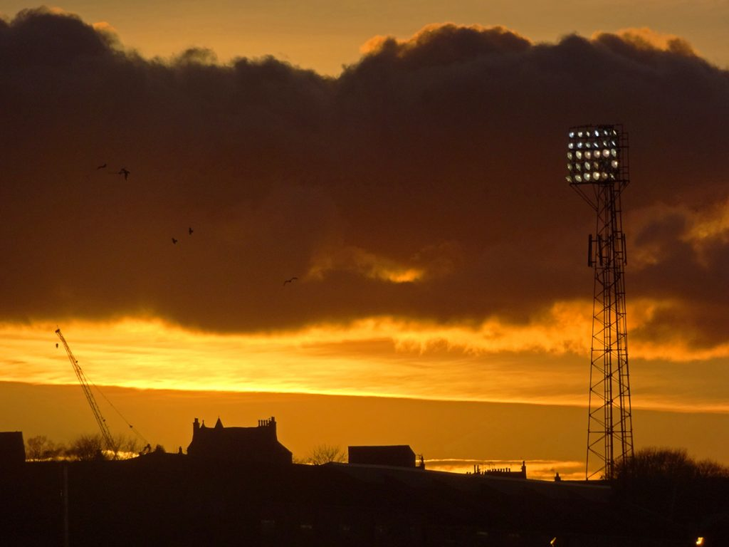 Pittodrie sunset
