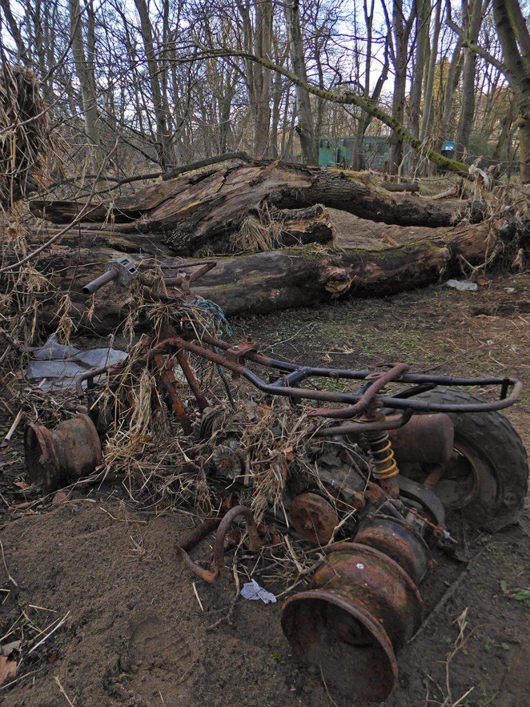 Rusty quad wreck