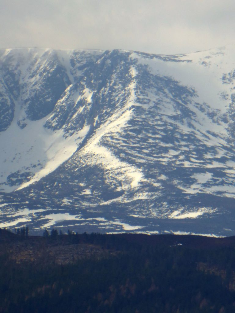 Snow capped peaks in the Lochnagar direction