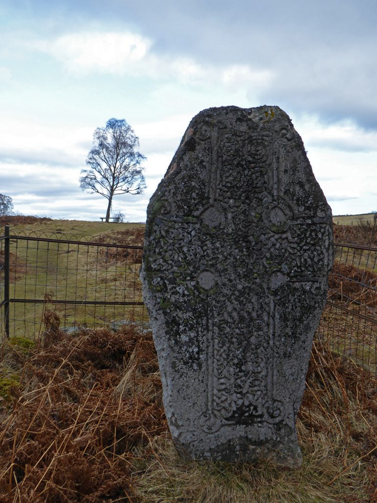 Celtic cross at Loch Kinord