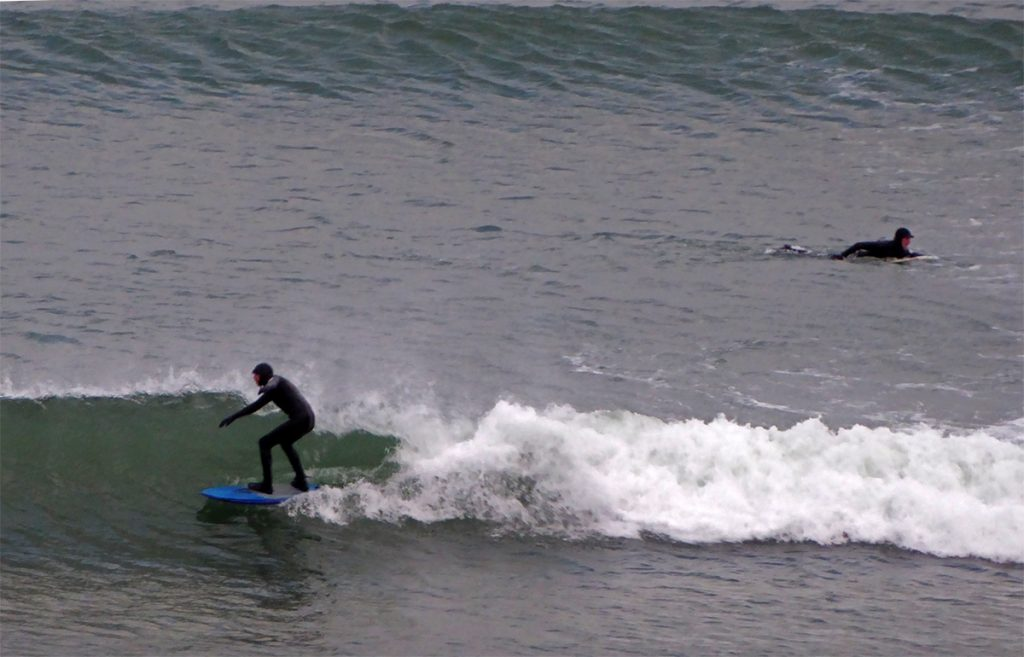 Surfing Nigg Bay