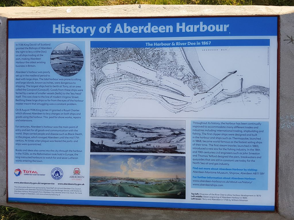 History of Aberdeen Harbour information board