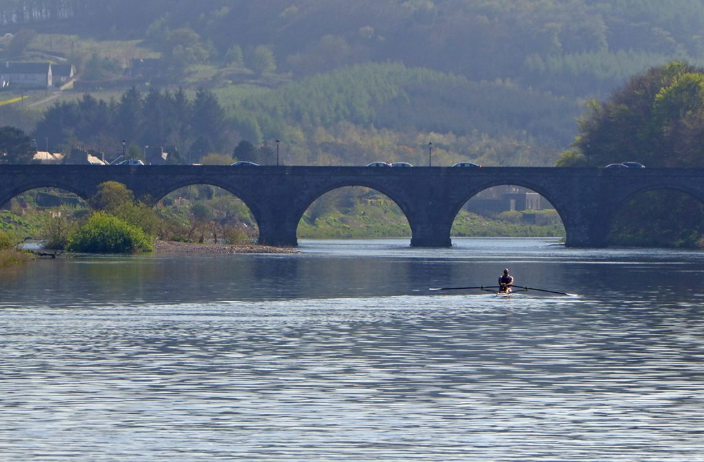 Nice day for a row on The Dee
