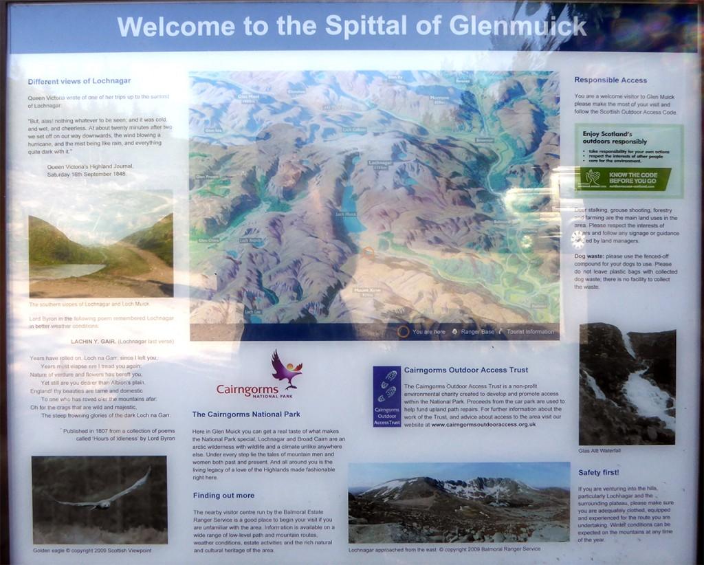 Spittal of Glenmuick board