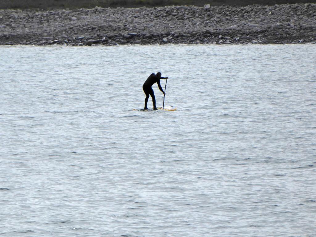 Nigg Bay paddle boarder