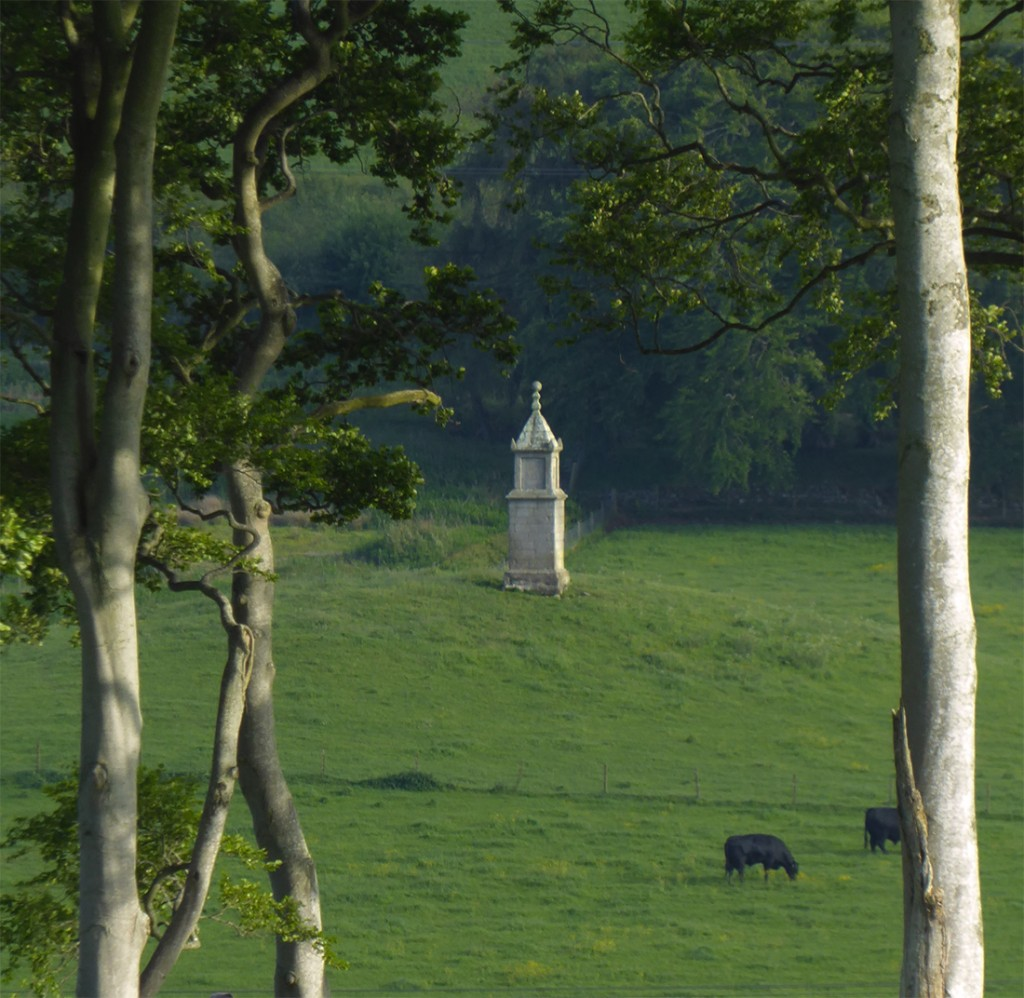 Zooming into Liddell's monument through Berry Hillock