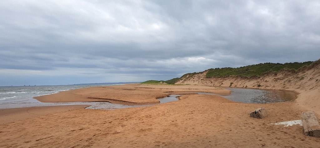 Another beach stream