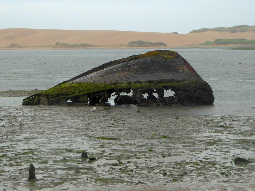 Ythan estuary boat wreck